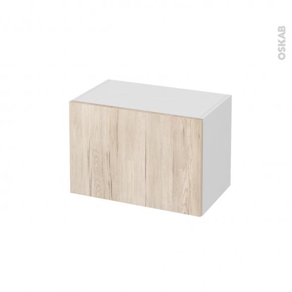 Meuble de salle de bains - Rangement bas - IKORO Chêne clair - 1 tiroir - L60 x H41 x P37 cm