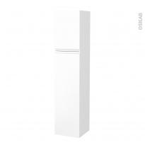 Colonne de salle de bains - 2 portes - IPOMA Blanc mat - Côtés blancs - Version A - L40 x H182 x P40 cm