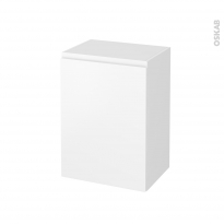 Meuble de salle de bains - Rangement bas - IPOMA Blanc mat - 1 porte - L50 x H70 x P37 cm