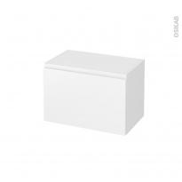 Meuble de salle de bains - Rangement bas - IPOMA Blanc mat - 1 porte - L60 x H41 x P37 cm