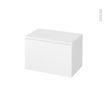 Meuble de salle de bains - Rangement bas - IPOMA Blanc mat - 1 tiroir - L60 x H41 x P37 cm