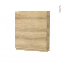 Armoire de toilette - Rangement haut - IPOMA Chêne Naturel - 1 porte - Côtés décors - L60 x H70 x P17 cm