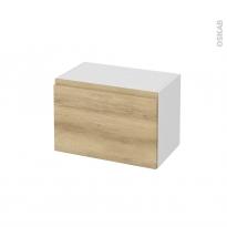 Meuble de salle de bains - Rangement bas - IPOMA Chêne Naturel - 1 tiroir - L60 x H41 x P37 cm