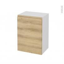 Meuble de salle de bains - Rangement bas - IPOMA Chêne Naturel - 1 porte - L50 x H70 x P37 cm