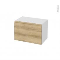 Meuble de salle de bains - Rangement bas - IPOMA Chêne Naturel - 1 porte - L60 x H41 x P37 cm