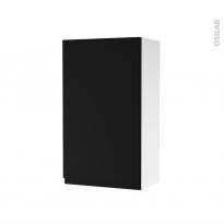 Armoire de salle de bains - Rangement haut - IPOMA Noir mat - 1 porte - Côtés blancs - L40 x H70 x P27 cm