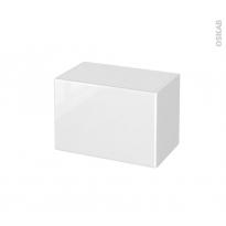 Meuble de salle de bains - Rangement bas - IRIS Blanc - 1 tiroir - L60 x H41 x P37 cm