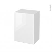 Meuble de salle de bains - Rangement bas - IRIS Blanc - 1 porte - L50 x H70 x P37 cm