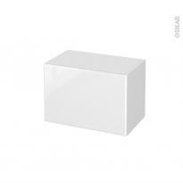 Meuble de salle de bains - Rangement bas - IRIS Blanc - 1 porte - L60 x H41 x P37 cm