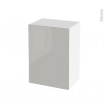 Meuble de salle de bains - Rangement bas - IVIA GRIS - 1 porte - L50 x H70 x P37 cm
