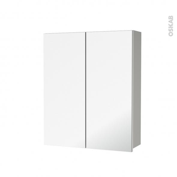 H70 Haut Gris2 MiroirCôtés Portes Ivia De X Armoire Toilette DécorsL60 P17 Cm Rangement 5Aj3Lq4R