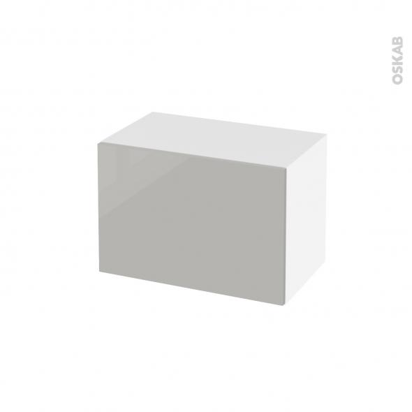 Meuble de salle de bains - Rangement bas - IVIA GRIS - 1 porte - L60 x H41 x P37 cm