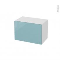 Meuble de salle de bains - Rangement bas - KERIA Bleu - 1 tiroir - L60 x H41 x P37 cm
