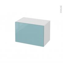 Meuble de salle de bains - Rangement bas - KERIA Bleu - 1 porte - L60 x H41 x P37 cm