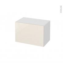 Meuble de salle de bains - Rangement bas - KERIA Ivoire - 1 tiroir - L60 x H41 x P37 cm
