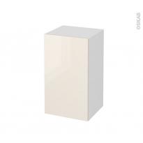 Meuble de salle de bains - Rangement bas - KERIA Ivoire - 1 porte - L40 x H70 x P37 cm