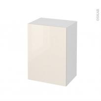Meuble de salle de bains - Rangement bas - KERIA Ivoire - 1 porte - L50 x H70 x P37 cm