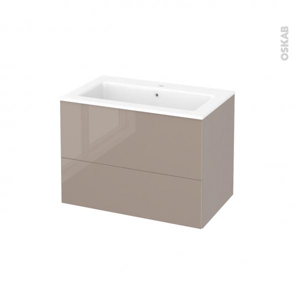 Meuble de salle de bains plan vasque naja keria moka 2 for Meuble 5 tiroirs