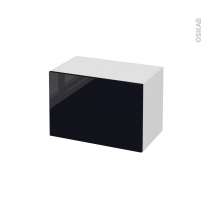 Meuble de salle de bains - Rangement bas - KERIA Noir - 1 tiroir - L60 x H41 x P37 cm