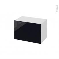 Meuble de salle de bains - Rangement bas - KERIA Noir - 1 porte - L60 x H41 x P37 cm