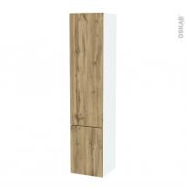 Colonne de salle de bains - 2 portes - OKA Chêne - Côtés blancs - Version B - L40 x H182 x P40 cm