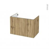 Meuble de salle de bains - Sous vasque - OKA Chêne - 2 portes - Côtés décors - L80 x H57 x P50 cm