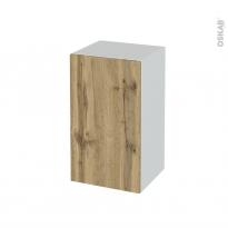 Meuble de salle de bains - Rangement bas - OKA Chêne - 1 porte - L40 x H70 x P37 cm