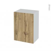 Meuble de salle de bains - Rangement bas - OKA Chêne - 1 porte - L50 x H70 x P37 cm