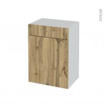 Meuble de salle de bains - Rangement bas - OKA Chêne - 1 porte 1 tiroir - L50 x H70 x P37 cm