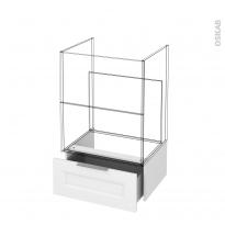 Tiroir sous meuble - Socle n°51 - STATIC Blanc - pour meuble salle de bains - L60 x H26 x P45 cm