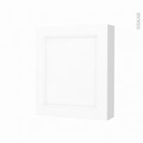 Armoire de toilette - Rangement haut - STATIC Blanc - 1 porte - Côtés blancs - L60 x H70 x P17 cm