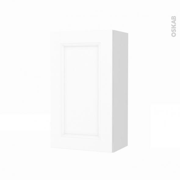 Armoire de salle de bains - Rangement haut - STATIC Blanc - 1 porte - Côtés blancs - L40 x H70 x P27 cm