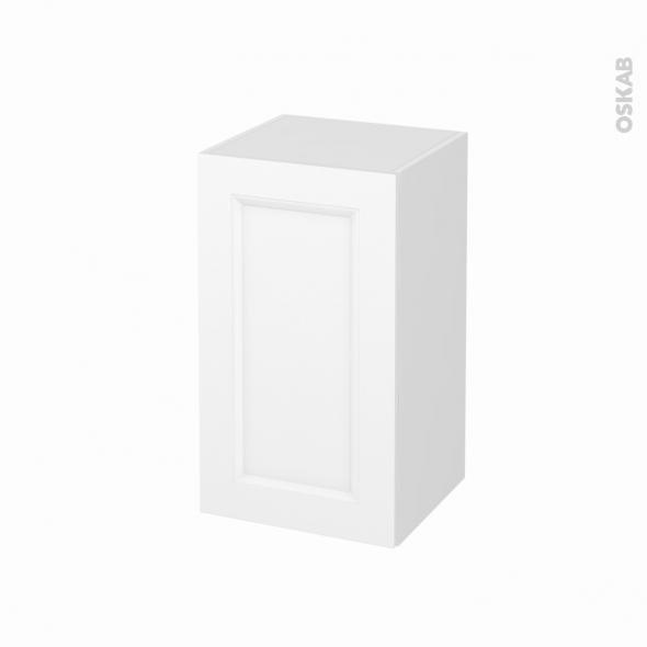 Meuble de salle de bains - Rangement bas - STATIC Blanc - 1 porte - L40 x H70 x P37 cm