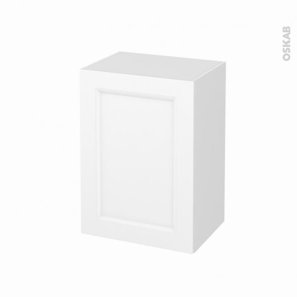Meuble de salle de bains - Rangement bas - STATIC Blanc - 1 porte - L50 x H70 x P37 cm