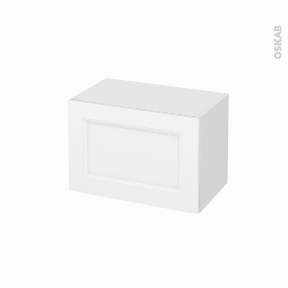 Meuble de salle de bains - Rangement bas - STATIC Blanc - 1 porte - L60 x H41 x P37 cm