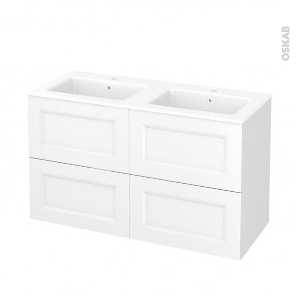 meuble de salle de bains plan double vasque naja static blanc 4 tiroirs c t s d cors l120 5 x. Black Bedroom Furniture Sets. Home Design Ideas