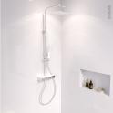 Colonne de douche - SAO - Mitigeur thermostatique - Blanche et chromée