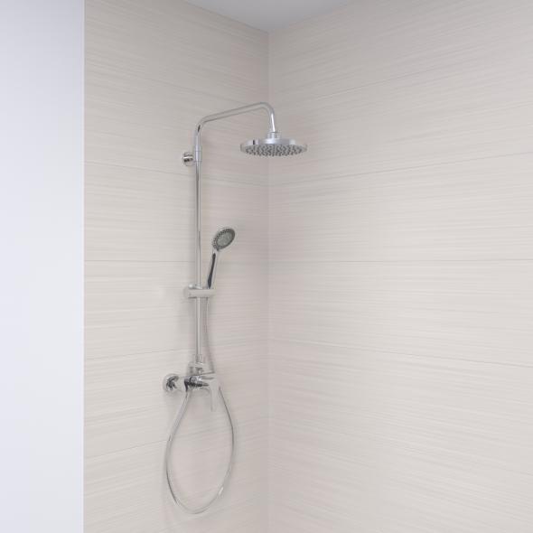 Colonne de douche - CALY - Mitigeur mécanique - Chromée