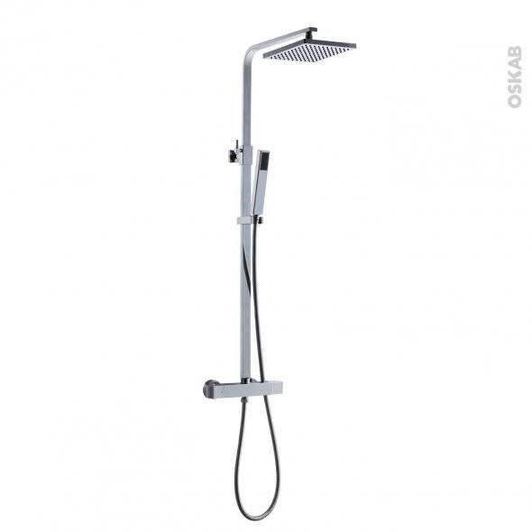Colonne de douche t lescopique matsya mitigeur - Cartouche thermostatique pour colonne de douche ...