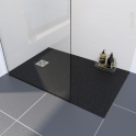 Receveur de douche - Extra-plat BALI - Résine - Rectangulaire 120x90 cm - Noir
