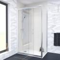 Porte de douche - coulissante OLYMPE - 140 cm - Verre transparent