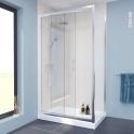 Porte de douche - coulissante OLYMPE - 120 cm - Verre transparent