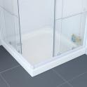 Receveur de douche - KOS - Grès émaillé - Carré 72x72 cm - Blanc