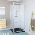 Porte de douche - pivotante OLYMPE -80 cm - Verre transparent