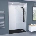 Receveur de douche - Extra-plat BALI - Résine - Rectangulaire 120x80 cm - Noir