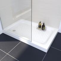Receveur de douche - KOS - Grès émaillé - Rectangulaire 120x80 cm - Blanc