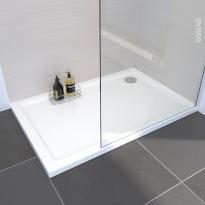 Receveur de douche - SAMOA - Acrylique - Rectangulaire 120x80 cm - Blanc