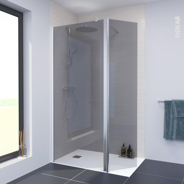Paroi de douche l 39 italienne atlas 90 cm volet pivotant for Atlas salle de bain