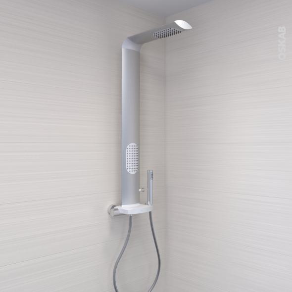 colonne de douche icos mitigeur thermostatique aluminium valentin oskab. Black Bedroom Furniture Sets. Home Design Ideas