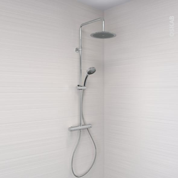 Colonne de douche - Télescopique NOUN - Mitigeur thermostatique - Chromée